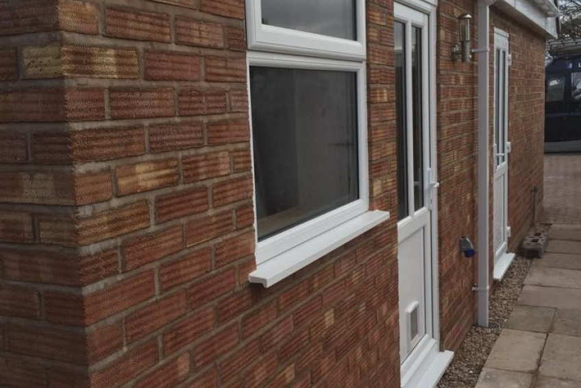 House Extension Building Specialists Walsall, Wednesbury - new brick built garage and porch