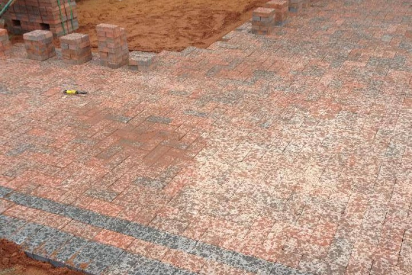 Block Paving Driveway - Walsall - Nearly rained off